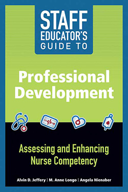 Book cover of Staff Educator's Guide to Professional Development