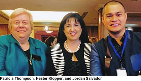 Patricia Thompson, Hester Klopper, and Jordan Salvador