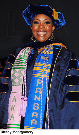Tiffany Montgomery in her graduation gown