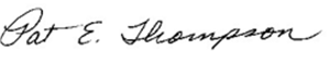 Pat Thompson signature