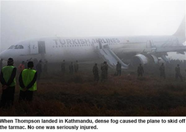 Image of plane skidded off runway.