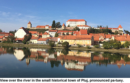 Town of Ptuj in Austria.