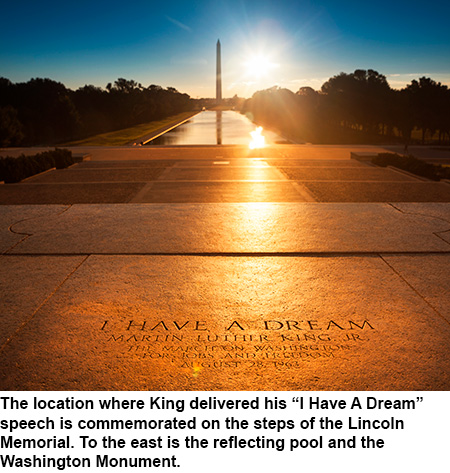 Location of Martin Luther King speech