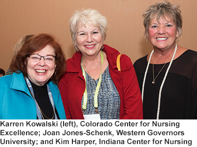 Karren Kowalski; Joan Jones-Schenk, and Kim Harper