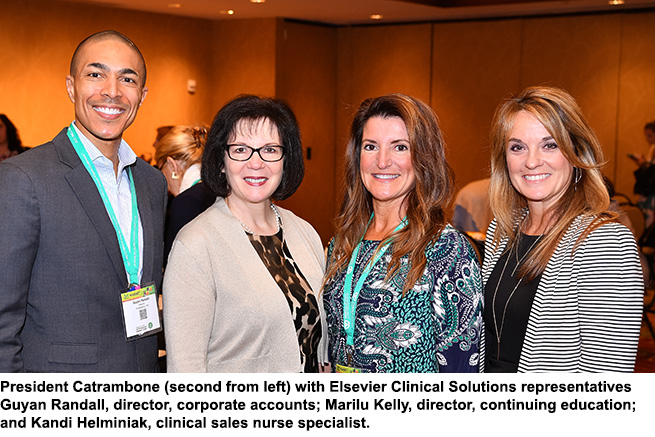 President Catrambone with Elsevier representatives