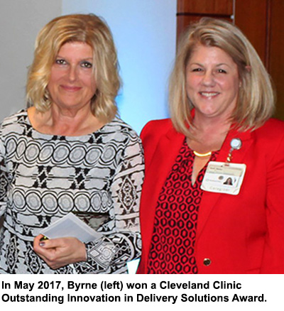 Jill Byrne won a Cleveland Clinic Outstanding Innovation in Delivery Solutions Award
