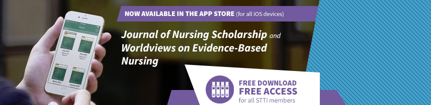 Now available in the app store: Journal of Nursing Scholarship and Worldviews on Evidence-Based Nursing
