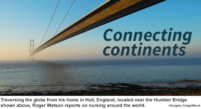 Connecting continents image for Roger Watson's blog