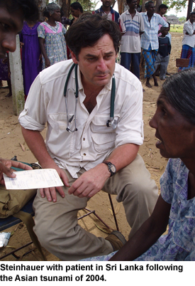 Rene Steinhauer with patient