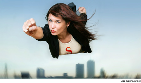 Photo of a superwoman