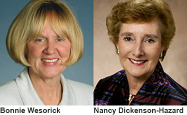 Bonnie Wesorick and Nancy Dickenson-Hazard