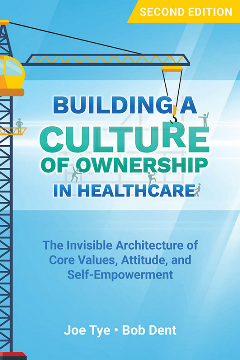 Building a Culture of Ownership in Healthcare cover depicts a crane