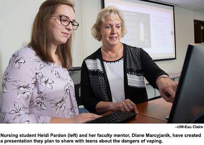 Nursing student partners with professor to warn about dangers of vaping