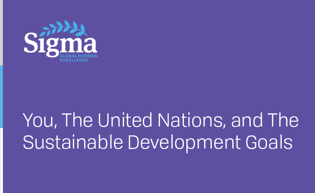 You, The United Nations, and The Sustainable Development Goals